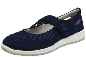 Jana 8-24663-24 Soft Line Damen Spangenballerina blau ( navy )