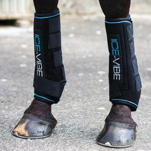 Horseware Ice-Vibe Boot LED - Black Aqua , Größe:Warmblut (L)