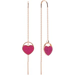 Swarovski 5472445 Ketten-Ohrringe Ginger Herz Rosa Rosé Vergoldung
