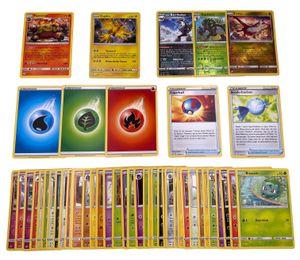 Pokemon - 50er Set mit Commons, Uncommons, Reverse-Holos, Rare-Karte und Holo Karte - Deutsch - mit GECO Spielmatte