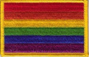 Aufnäher Regenbogen 8 x 5 cm