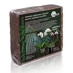 yourGEAR grobkörnige Kokoserde 75 L - 5 kg gepresste Blumenerde Aussaaterde aus Kokosfasern ungedüngt torffrei