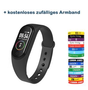 Neu M4A Sport Fitness Armband mit Pulsmesser Fitness Tracker Blutdruckmessung Schrittzähler  Wasserdicht IP68 GPS Tracking Uhr Schwarz