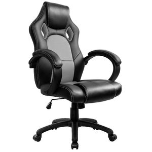 Gaming Stuhl Bürostuhl Computer Schreibtisch Sportsitz Gaming schreibtischstuhl Chefsessel - Grau - IntimaTe WM Heart