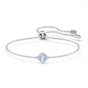 Swarovski Armband 5567933 Angelic Cushion Armband, blau, rhodiniert