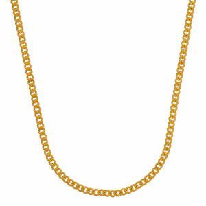 1,4 mm 55 cm 585 - 14 Karat Gelbgold Panzerkette massiv Gold hochwertige Halskette 3,7 g