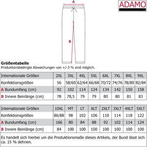 Schlafanzughose lang für Herren von ADAMO in Übergrößen XXL-10XL und in Langgrößen 98-122, Größe:3XL, Farbe:Dunkelblau