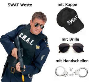S. W. A. T. Weste - Männerweste - SWAT - Undercover Polizei Set mit Zubehör