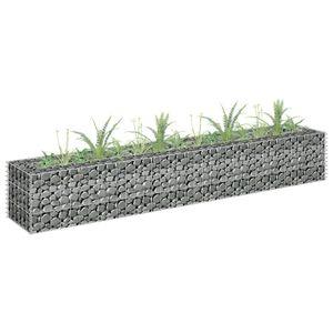 Gabionen-Hochbeet Garten-Hochbeet Hochbeet Verzinkter Stahl 180×30×30 cm