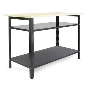 Werkbank 120x60x95 cm Werktisch Werkstatttisch Packtisch Arbeitstisch Tisch