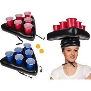 Trinkspiel Beer Pong Game Aufblasbare Mütze