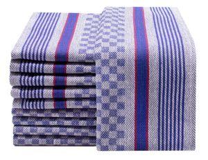 Geschirrtücher 10er Set, Baumwolle, 45x90 cm, blau