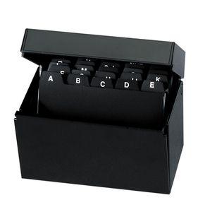 Herlitz Karteikasten / Lernbox / DIN A7 / 100 Karteikarten + Register / schwarz