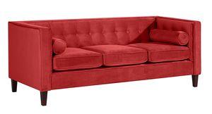 Max Winzer Jeronimo Sofa 3-Sitzer - Farbe: ziegel - Maße: 215 cm x 85 cm x 80 cm; 2962-3100-2044276-F07
