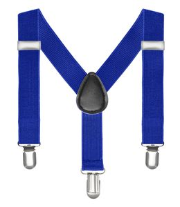 Kinderhosenträger Kinder Hosen Träger Stretch Y Form Style Clips Schmal Neon Bunt Farbig blau