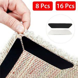 16 Stück rutschfeste Teppichecken, rutschfeste Matte für Teppiche, waschbar, waschbar