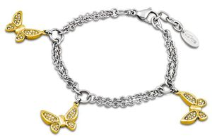 Damen Armband Schmetterling Bicolor Lotus Style LS1529-2/2 Armschmuck