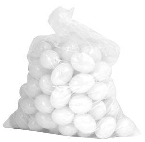 Ostereier Plastik / Kunststoff, Eier, Deko, Osterdekoration, zum Bemalen und Dekorieren ca. 60mm 100 Stück weiß