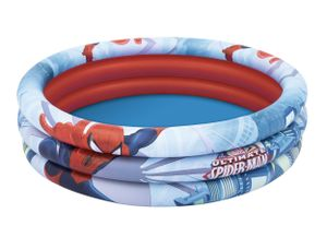 Bestway aufblasbarer Pool Spider-Man 122 x 30 cm blau/rot