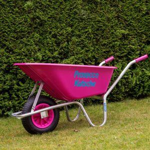 Schubkarre Proseccokutsche PP 100 L 250 kg Gartenschubkarre Schiebkarre pink