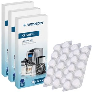 3X PACK REINIGUNGSTABLETTEN DER Espressomaschine BOSCH SAECO KRUPS 30x Tabletten