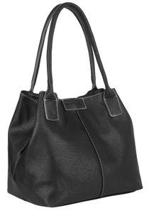 Bag Street Shopper Handtasche Damentasche T0143 Schwarz