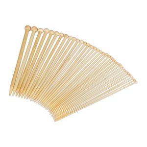 relaxdays Stricknadeln 36er Set aus Bambus