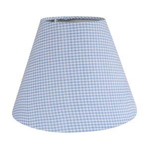 Lampenschirm LITTLE hellblau weiß kariert kleinkariert Kinderzimmer Tischlampe Karo