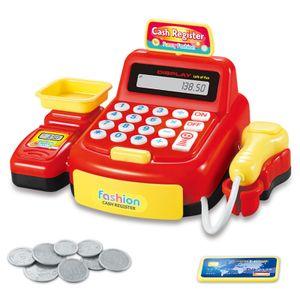 Supermarkt-Scanner Spielzeugset, Simulation Spielkasse Registrierkasse Spielzeug, Kindersimulationsspielzeug