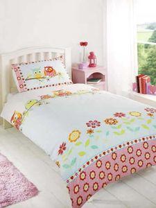 Bettwäsche Bettgarnitur Eulen auf dem Ast 135x200/ 50x75cm