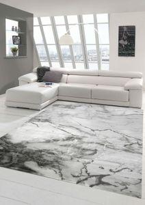 Marmorteppich mit Glanzfasern in Grau Größe - 160x230 cm