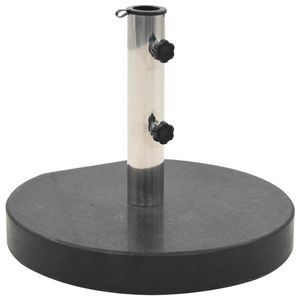 dereoir Sonnenschirmständer Granit 30 kg Rund Schwarz