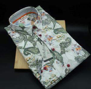 Rich Friday Herren Freizeithemd mit Paisleydesign, Bodyfit Weiss L