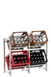 CLP Getränkekistenständer Lennert, Farbe:edelstahl, Größe:L