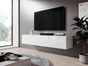 FURNIX Hängeboard, Lowboard RTV Zibo 160 Weiß glänzend
