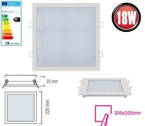 18W LED Panel Einbaustrahler 225x225mm Spot Einbauleuchte Kaltweiß 1360 Lumen Deckenleuchte Eckig