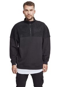 Urban Classics Pullover Oversize Sherpa Troyer Black-L