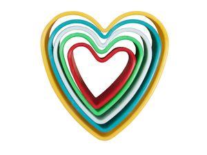Keksausstecher Herz Ausstechform, wählen:AF-02 Herz gelb