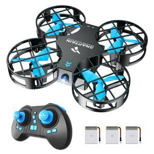SNAPTAIN Mini Drohne H823H mit 3 Akkus für 21 Minuten Flugzeit, RC Drone, Quadrocopter Mini Helikopter mit Höhehalten, Kopfloser Modus, 3D Flips und 3 Geschwindigkeitsmodi für Kinder Anfänger