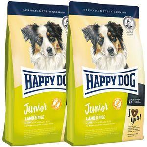 2 x 10 kg Happy Dog Supreme Junior Lamb & Rice (Lamm & Reis)
