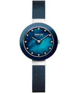 BERING elegante Damenuhr blau 11429-387