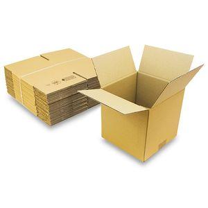 25 Faltkartons 200x200x200 mm - Kartons braun 1 wellig