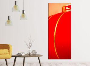 Leinwandbilder 1Tlg 40x100cm Kirsche rot Baum Blumen Lampe China japanisch Garten Leinwandbild Kunstdruck Wand Bilder Vlies Wandbild Leinwand Bild Druck 9ZA498, Leinwandbild Gr. 1:40cmx100cm