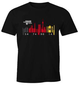 Herren T-Shirt Deutschland WM Flagge Barcode Skyline Berlin Fan Shirt Moonworks®  XXL