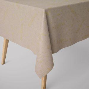 SCHÖNER LEBEN. Tischdecke Noten natur gold verschiedene Größen, Tischdecken Größe:130x200cm