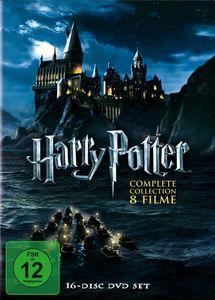 DVD-Box Harry Potter, Teile 1-8, 16 DVDs