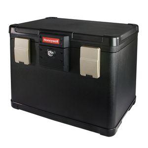 HMF 2511402 Feuerfeste Dokumentenkassette Register Honeywell, 40,7 x 32 x 32,9 cm, schwarz