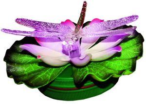 LED Schwimmlicht Libelle, Seerose, farbwechsel