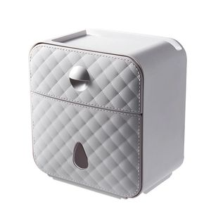 Toilettenpapierhalter Papierhalter Klopapierhalter Box Feuchttücher Behälter DE -Grau White