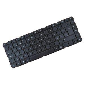 Spanisch Ersatz Tastatur Notebook Keyboard Ersatztast für HP Pavilion 14 14-B SleekBook Laptop, Schwarz